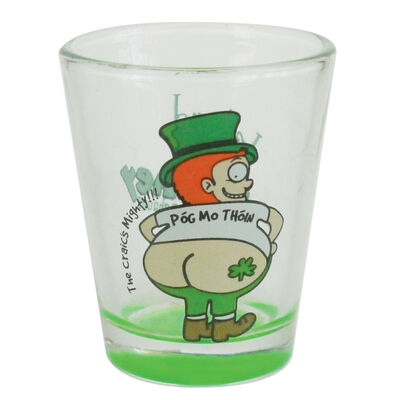 Loose Shot Glass With Craic Is Mighty Looney Lep Design