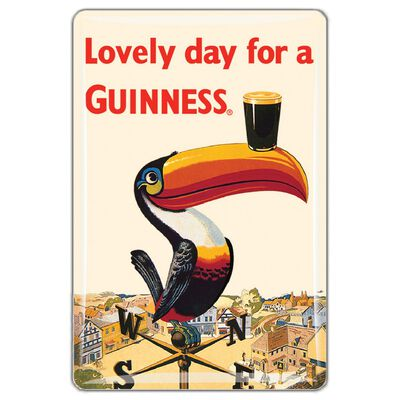 Guinness Official Merchandise Quality Epoxy Magnet With Toucan Design