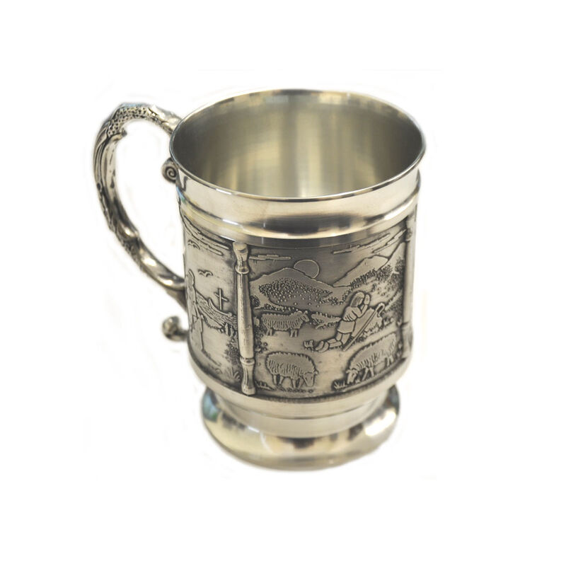 Mullingar Pewter Tankard Decorated With Scenes From St Patricks Story