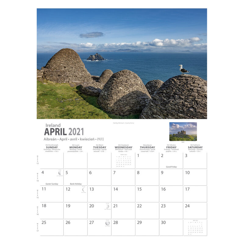 A4 Ancient Ireland Heritage 2021 Calendar