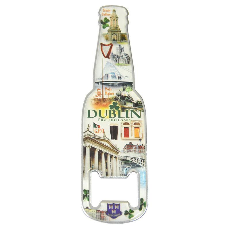 Famous Landmarks Of Dublin Magnetic Bottle Opener With Bottle Design
