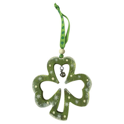 Rustic Ireland Hanging Decoration With a Shamrock Outline Design