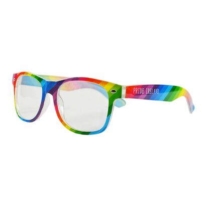 Pride Coloured Novelty Glasses With White 'Pride Ireland' Print