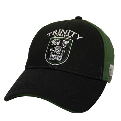 Trinity College Dublin Official Merchandise Black And Bottle Green Baseball Cap