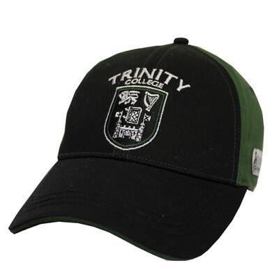 Trinity College Dublin Official Merchandise Black And Bottle Green Baseball Cap