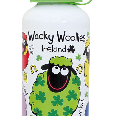 Wacky Woollies Collection Metal Water Bottle With Plastic Lid