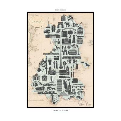 Dublin Icons – Hard Paper Irish Design Print With Cardboard Insert