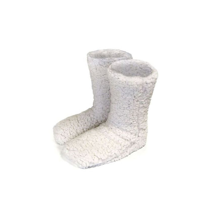 Man Of Aran Irish Super Soft Fluffy Slipper Socks  White Colour