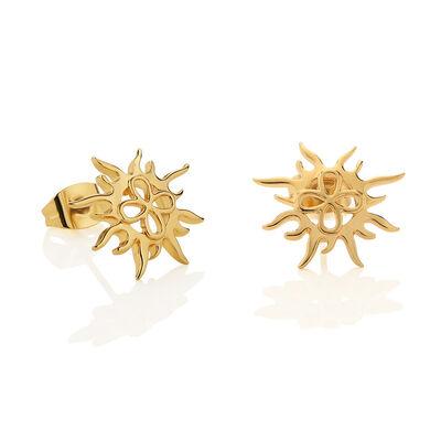 Gold Plated Amy Huberman Newbridge Silverware Sun Stud Earrings