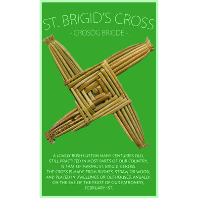 Irish St. Brigid's Cross / Crosog Bridge
