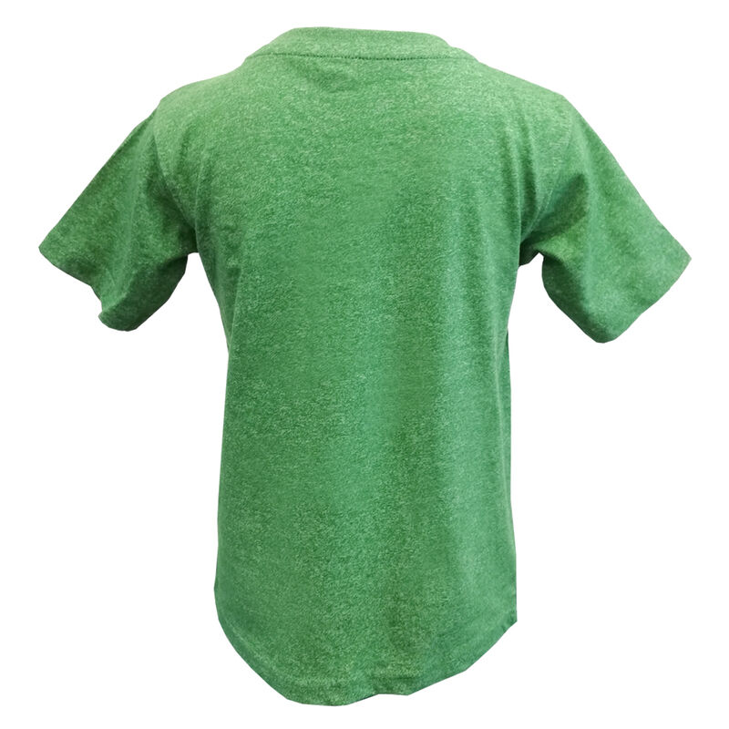 Funny Kids T-Shirt With Cute Leprechaun And Sheep Design  Green Colour