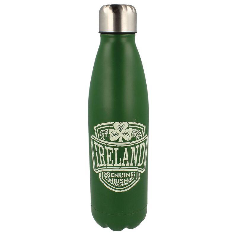 Genuine Irish Ireland College Water Bottle Metal With Irish Crest