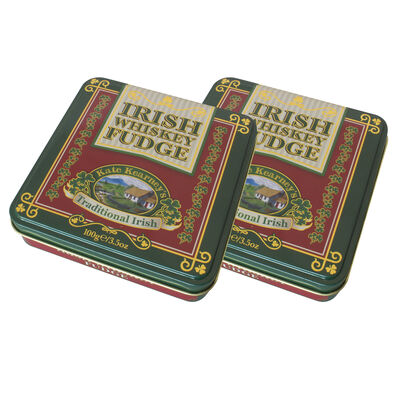 CLEARANCE - Gift From Ireland Kate Kearney Irish Whiskey Fudge In Tin, 100G ( Two Pack)