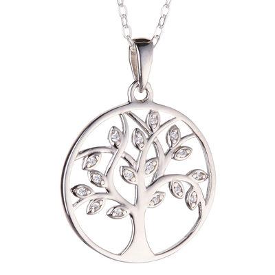 Hallmarked Sterling Silver Kilkenny Silver Tree Of Life Round Design Pendant