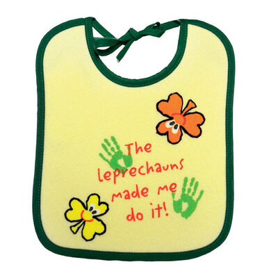 Baby Bib 'the Leprechauns Made Me Do It' Print