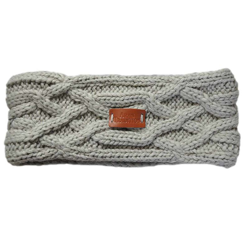 Aran Knitted Traditional patterns Headband  Oatmeal Colour