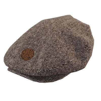 Patrick Francis Ireland Kids Tweed Flat Cap  Brown In Colour