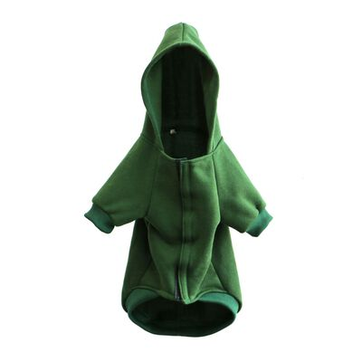 Irish Dog Hoody With Ireland Republic Est 1922 Lettering  Green Colour