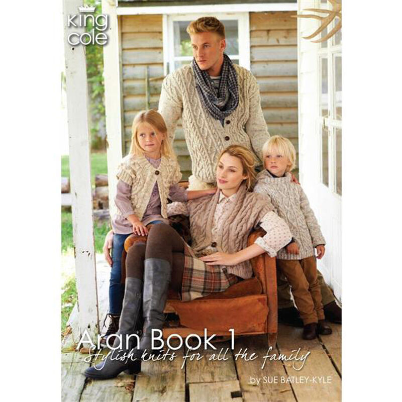 Aran Book 1 -Stylish Knits For All The Family by Sue Batley-Kyle