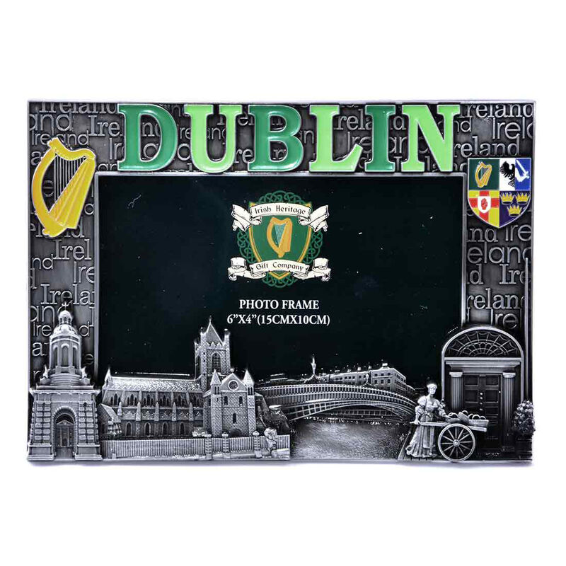 "Dublin Designed Metal Picture Frame  6"" X 4"""