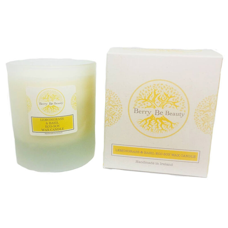 Berry Be Beauty Lemongrass Eco-Soy Wax Candle 180ml  Handmade in Ireland