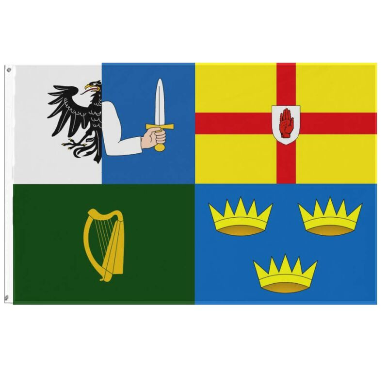 Historic Flag, With All The Four Provinces Of Ireland Design