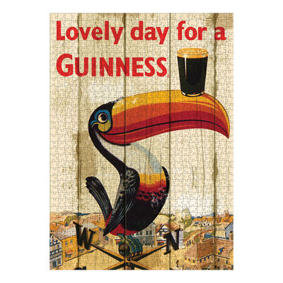 Official Guinness 1000 Piece Jigsaw Puzzle With Toucan Design