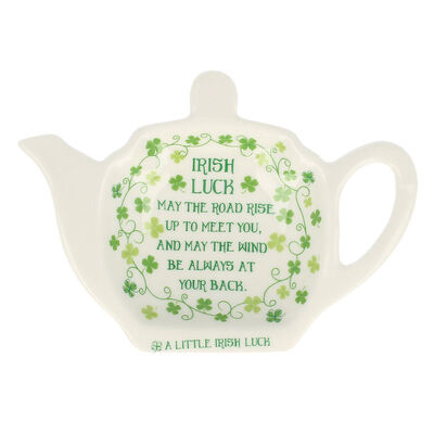 Tea Bag Holder  Clover Irish Saying