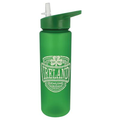 Genuine Irish Ireland College Water Bottle Plastic With Irish Crest