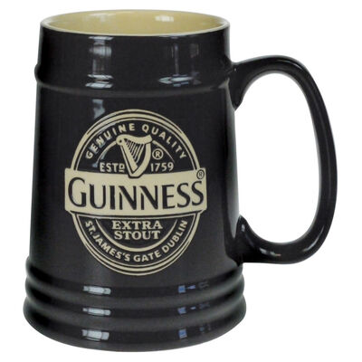 Guinness Black Ceramic Tankard Label
