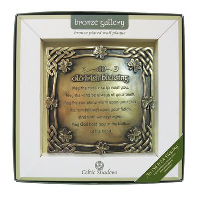 Bronze Plated Wall Plaque With Old Irish Blessing Design