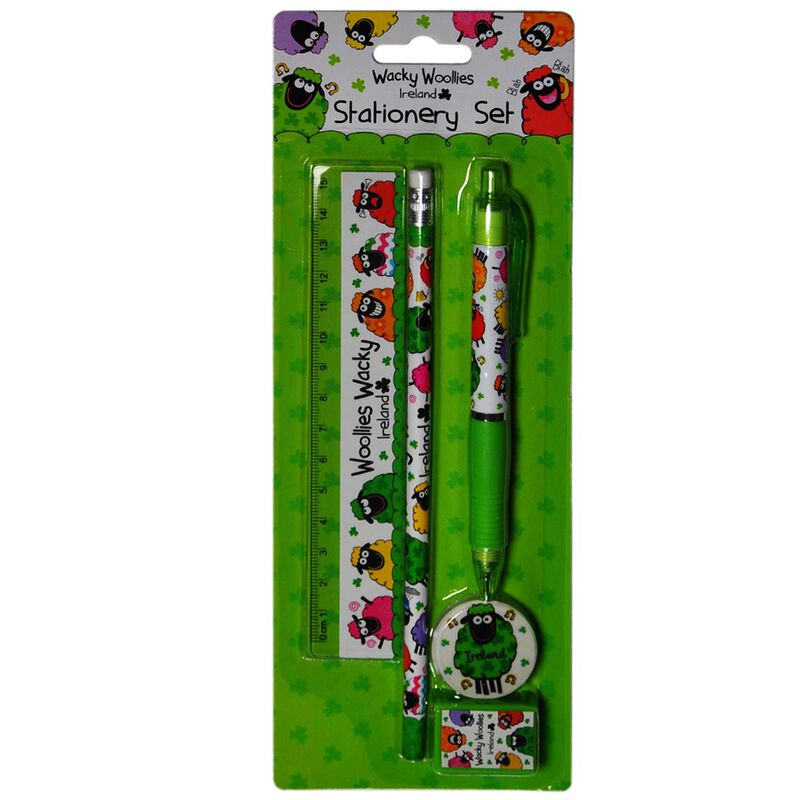 Wacky Woollies Ireland Stationery Set With Multi-Coloured Sheep Design