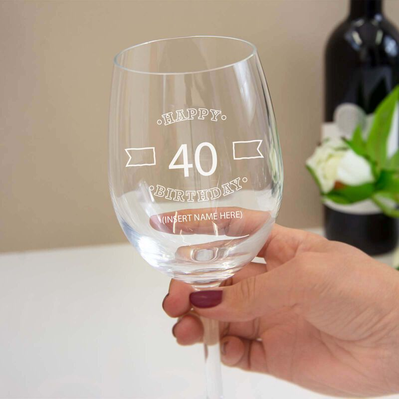 Personalised Wine Glass With Engraving and Gift Box