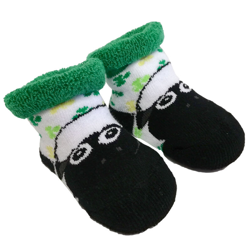 White And Green The Flaherty Flock Sheep Designed Baby Socks