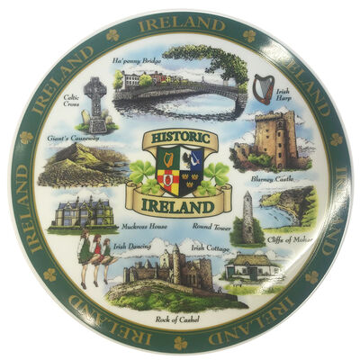 Ireland Designed Ceramic 20Cm Plate Of Famous And Historic Landmarks