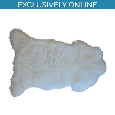 Genuine White Irish Sheepskin Rug