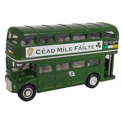 Grüner Dublin Doppeldecker Bus
