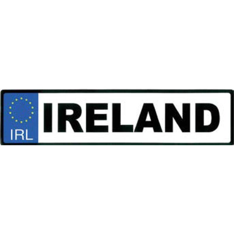 Aufkleber Kfz-Kennzeichen Irland