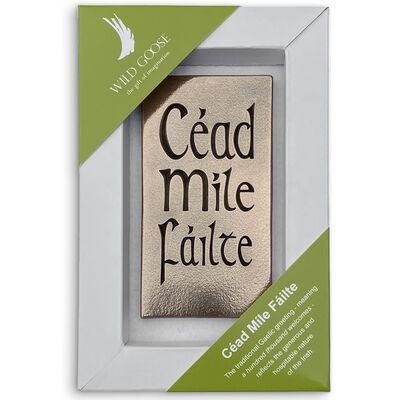 Cead Mile Failte Bronze Carving In Presentation Box (15cm X 23cm)
