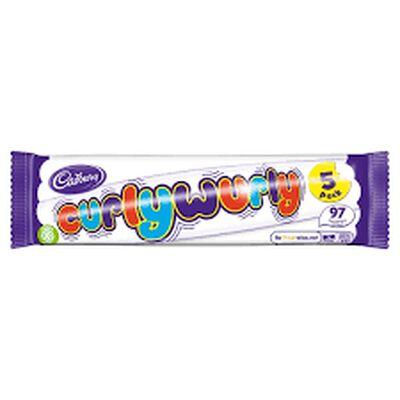 Cadbury Curly Wurly Bar, 5 Pack