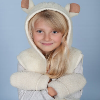 Adorable Sheep-Style Vest For Children Crafted From 100% Wool