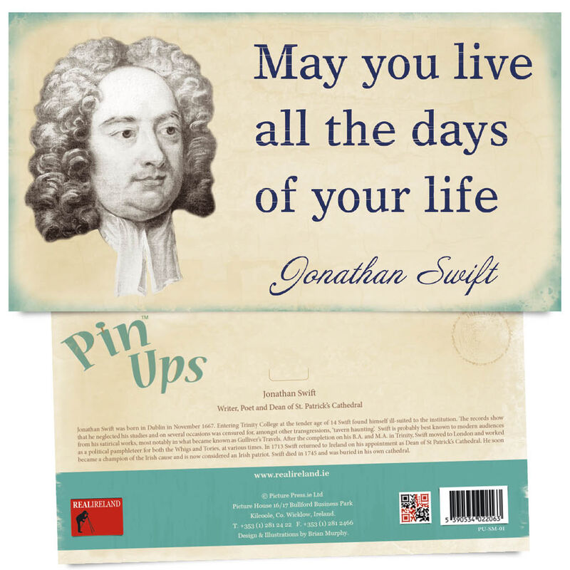 Pin Up Showing The Portrait of Famous Poet  Writer and Dean Jonathan Swift