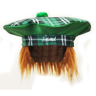 Ireland Tartan Style Paddy Hat With Red Hair