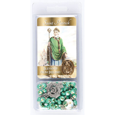 Saint Patrick Green Rosary Beads