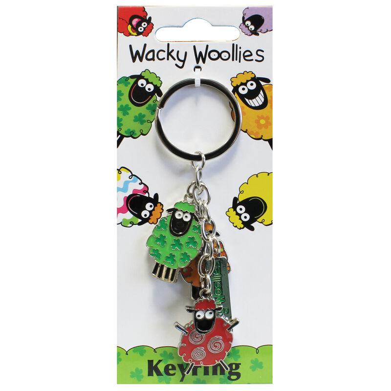 Wacky Woollies Sheep Charm Keychain