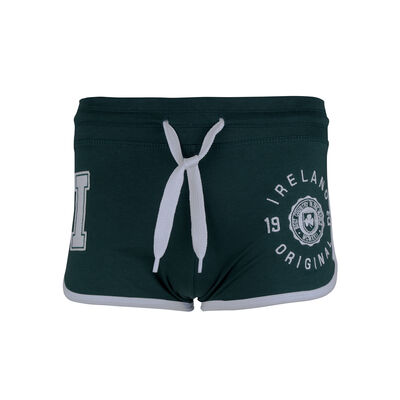 Ladies Hot Pants With Ireland 1922 Motif  Green Colour