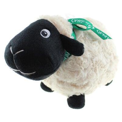 Schwarzes Kuschelschaf  Stofftier mit grüner Irland-Schleife