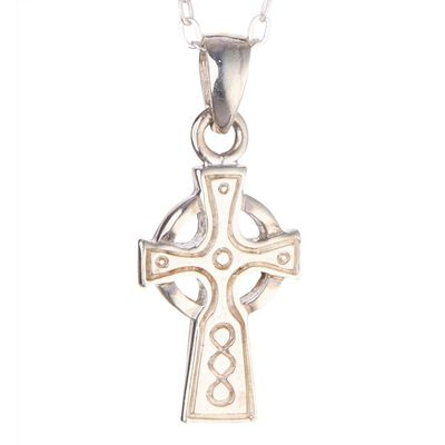 Hallmarked Sterling Silver Small Celtic Cross Designed Pendant