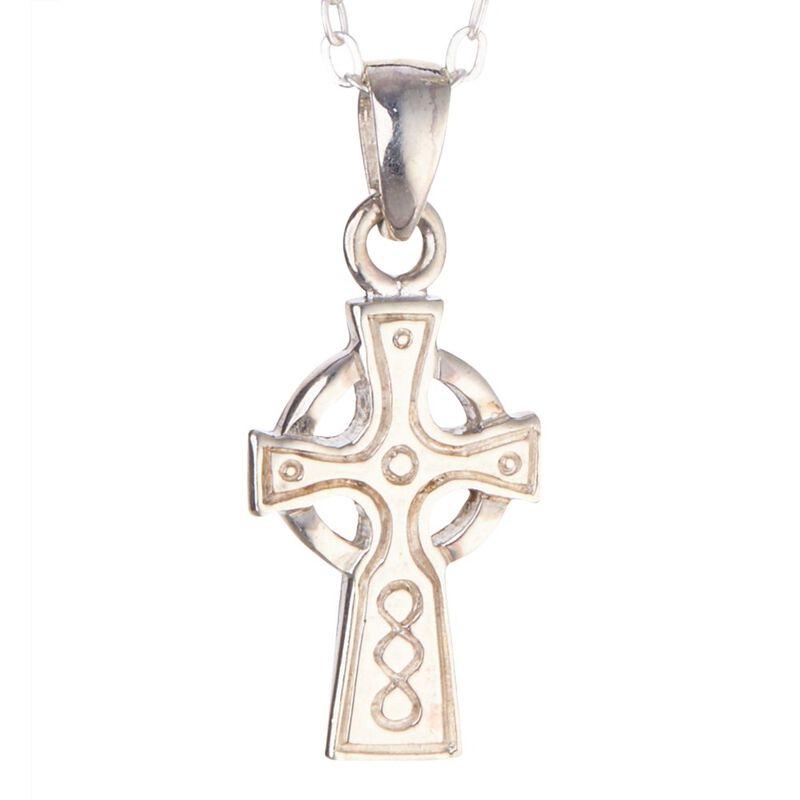 Hallmarked Sterling Silver Small Celtic Cross Designed Pendant