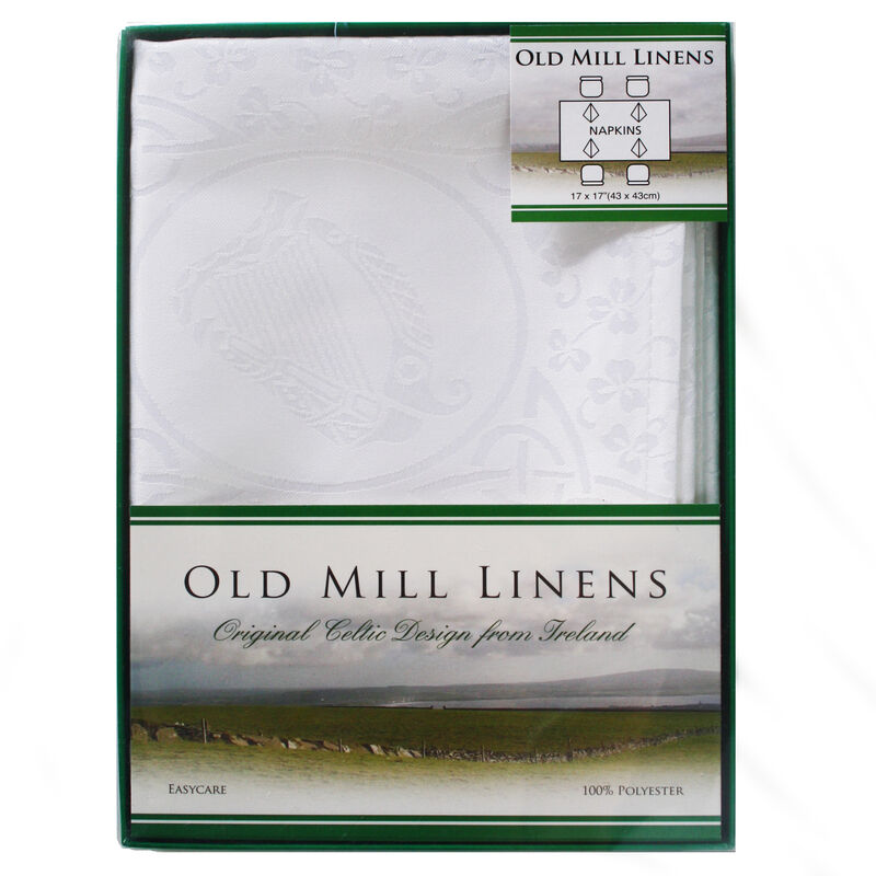 Old Mill Linens Set Of 4 100% Polyester Napkins